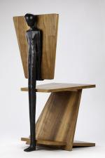 2016, bronze and wood, 41x91x51 cm, designed in collaboration with Alloutlab, Milan