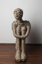 2013 rope and steel 45 x 60 x 45 cm