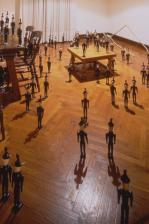 1998 oil on wood, dimensions variable